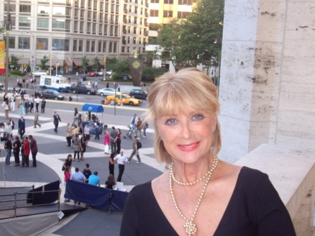 Christine at Lincoln center in New York